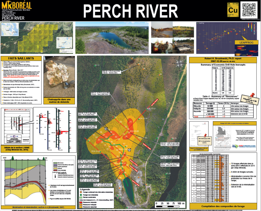Carte promotionnelle - Perch River
